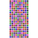 Комплект всеобщих значков для сети и черни иллюстрация вектора
