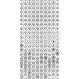 Комплект всеобщих значков для сети и черни иллюстрация штока
