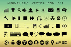Комплект всеобщих современных значков для сети и черни Стоковые Фото