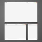 Комплект всех браузеров размера для предварительного просмотра места Стоковая Фотография RF