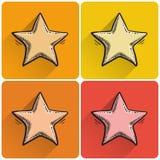 Комплект вычерченного значка звезды Стоковое Фото