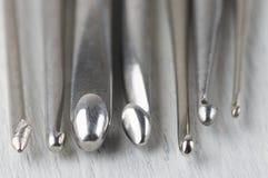 Комплект вязать вязаний крючком Стоковые Изображения RF