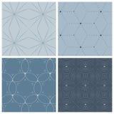 Комплект 4 геометрических безшовных картин Стоковые Фотографии RF