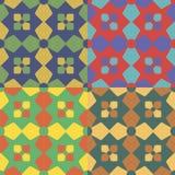 Комплект геометрических безшовных картин Стоковые Фото