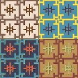 Комплект геометрических безшовных картин Стоковые Изображения RF