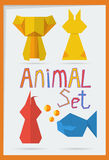 Комплект геометрических животных Стоковая Фотография RF