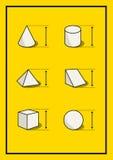 Комплект геометрических диаграмм тома Стоковое фото RF