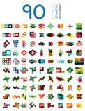 Комплект геометрических форменных infographic знамен варианта иллюстрация штока