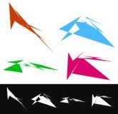 комплект геометрических форм в других цветах Текстурированное ele форм бесплатная иллюстрация