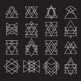 Комплект геометрических форм для вашего дизайна Ультрамодный логотип битника Стоковая Фотография RF
