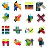 Комплект геометрических infographic шаблонов бесплатная иллюстрация