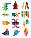 Комплект геометрических infographic шаблонов иллюстрация вектора