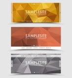 Комплект геометрического полигонального заголовка Стоковые Фотографии RF