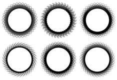 Комплект геометрического элемента 6 циркуляров Абстрактные формы геометрии Стоковое Изображение RF