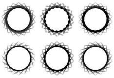 Комплект геометрического элемента 6 циркуляров Абстрактные формы геометрии Стоковые Фотографии RF