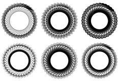 Комплект геометрического элемента 6 циркуляров Абстрактные формы геометрии Стоковые Фото