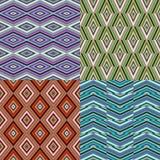 комплект геометрической картины безшовный Стоковая Фотография