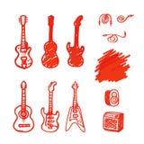 Комплект гитар сделал отметку Стоковая Фотография