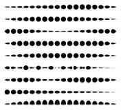 Комплект горизонтальных линий рассекателя сделанных кругов Пунктирные линии бесплатная иллюстрация