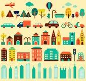 Комплект города стоковая фотография