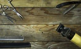 Комплект года сбора винограда парикмахера Стоковое Изображение RF