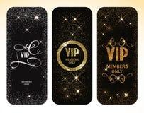 Комплект года сбора винограда чешет карточки золота и серебра с элементами флористического дизайна Стоковое Фото