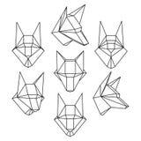Комплект головы волка стоковая фотография rf