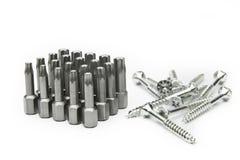 Комплект голов и винтов битов отвертки torx Стоковая Фотография RF
