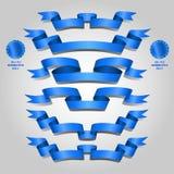 Комплект голубой ленты Стоковое фото RF