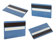 Комплект голубой карточки creadit Стоковые Изображения RF