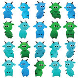 Комплект голубых и зеленых коз бесплатная иллюстрация