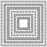 Комплект границы шнурка на белой предпосылке Стоковые Фото