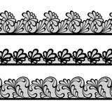 Комплект границ вектора шнурка Стоковая Фотография RF