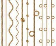 Комплект границ веревочки бесплатная иллюстрация