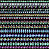 Комплект границ драгоценных камней Стоковое Фото
