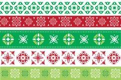 Комплект границ рождества и Нового Года Стоковые Фото