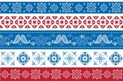 Комплект границ рождества и Нового Года Стоковое Изображение RF