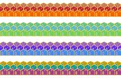 Комплект границ эмали безшовных Стоковая Фотография RF