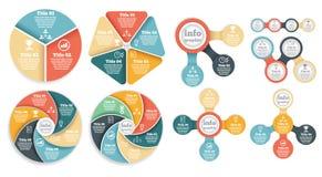 Комплект графика данным по делового круга, диаграммы Стоковые Фотографии RF