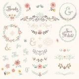 Комплект графика свадьбы Стоковое Фото