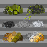 Комплект 7 графических облаков бесплатная иллюстрация