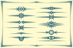 Комплект графических рассекателей Стоковые Фотографии RF