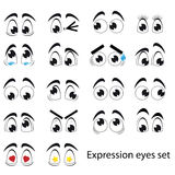 Комплект глаз выражения Стоковое Изображение RF
