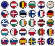 Комплект евро евроец flags соединение Стоковое фото RF