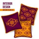 Комплект декоративной подушки Стоковое Фото