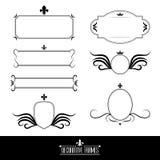 Комплект декоративных богато украшенных рамок и границ Стоковое Изображение RF
