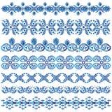 Комплект декоративных границ иллюстрация вектора