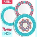 Комплект декоративных плит Стоковое Фото