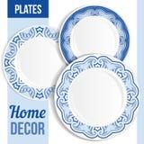 Комплект декоративных плит Стоковое Изображение