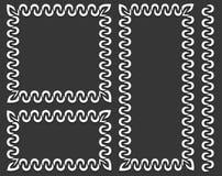 Комплект декоративных рамок в различных размерах иллюстрация штока